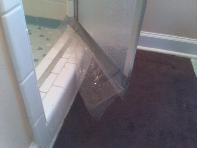 Shower door plastic strips